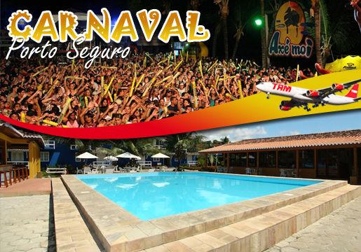 Carnaval em Porto Seguro:Voo  TAM saída RJ+Hotel+Café