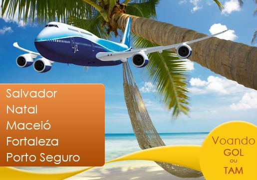 Aéreo TAM/GOL para Nordeste saindo de SP ou Porto Alegre