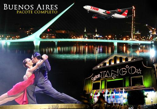 Feriado em Buenos Aires: Aéreo + 3diárias +café+city tour