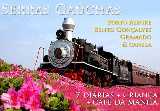 Serras Gaúchas e Porto Alegre: Hospedagem + City Tour