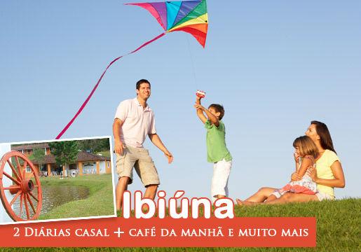 Ibiúna/SP: 2 Diárias Casal + Café + muito lazer