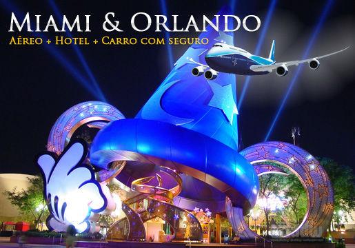INÉDITO: Miami + Orlando FLEX. Aéreo + Hotel + Carro