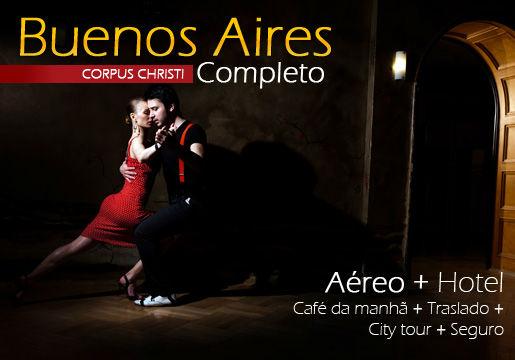 Feriado em Buenos Aires: Aéreo + Hotel +Café+ City Tour
