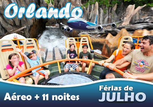 Julho na DISNEY! Aéreo + 11 noites em Orlando em até 10X