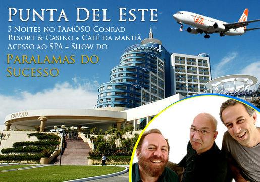 Punta del Este saindo do RJ: Aéreo+3 Diárias+Show
