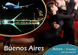 BUENOS AIRES: Areo + 3 noites + city tour + caf