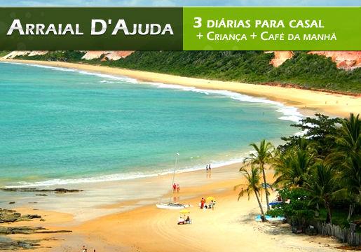 Praias Badaladas em Arraial D'Ajuda c/ 3 Diárias p/ CASAL