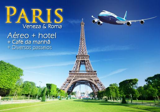 Completa: PARIS, VENEZA E ROMA em 9 dias e 8 Noites