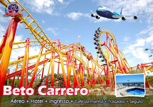 Beto Carrero: Aéreo + 2 Noites + Traslados + 1 ingresso