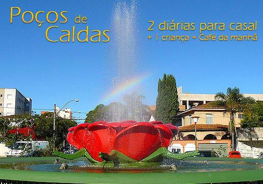 POÇOS DE CALDAS: 2 diárias para Casal com Café