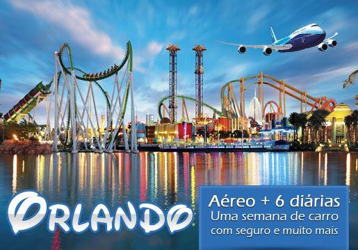 ORLANDO c/ Aéreo +6 Noites +1 SEMANA de Locação de Carro