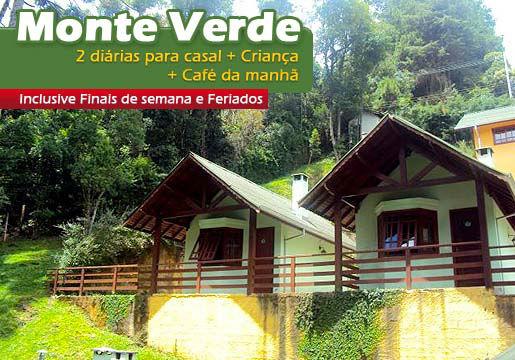 2 Diárias para Casal em MONTE VERDE com Café + Criança