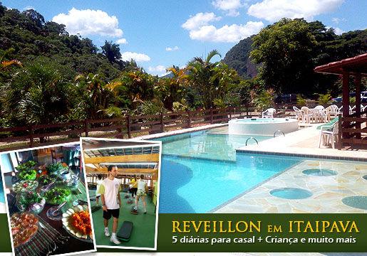 REVEILLON em ITAIPAVA/RJ: 5 Diárias p/ Casal + Refeições