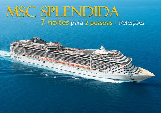 MSC Splendida BARCELONA: 7 Noites p/ 2 + Refeições