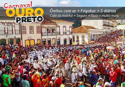 Carnaval em OURO PRETO na Pousada Hotel Mirante