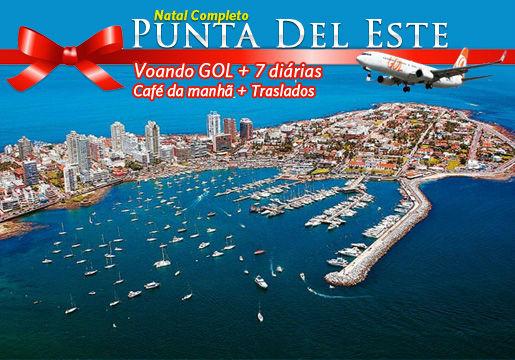 NATAL em Punta del Este: Aéreo + 7 Noites + Transfer