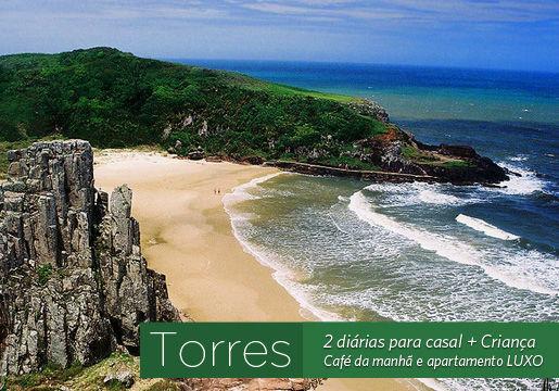 TORRES/RS: 2 Diárias p/ Casal + café + jantar