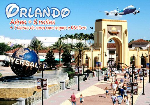 Orlando c/ aéreo + 06 noites + 06 diárias de Carro