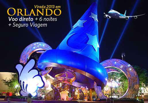 Virada 2013 em ORLANDO c/ aéreo + 06 Noites + Seguro