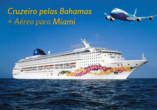 2 em 1! Aéreo p/ Miami + 3 dias de Cruzeiro pelas Bahamas