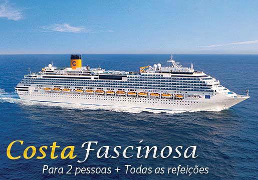 Cruzeiro Costa Fascinosa p/ 2 PESSOAS + Refeições e mais