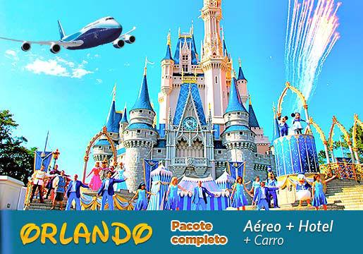 Mega promoção para ORLANDO c/ Aéreo + Hotel + Carro