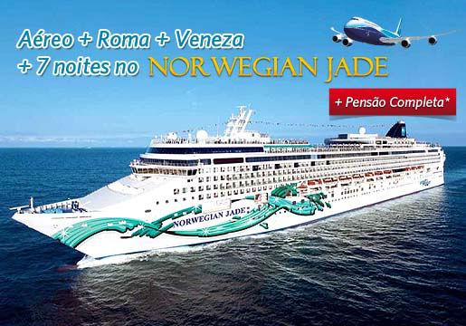 7 noites de Cruzeiro c/ Aéreo + hotel em Roma e Veneza