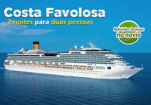 Cruzeiro Costa Favolosa p/ 2 PESSOAS + Refeições e mais