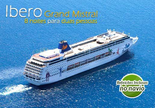 Cruzeiro GRAND MISTRAL p/ 2 PESSOAS + Refeições + Bebidas