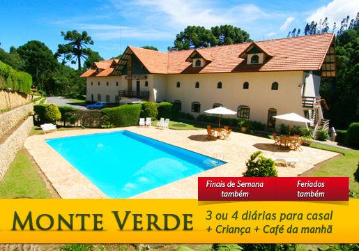 Monte Verde: 3 ou 4 diárias p/ Casal + Criança + Café