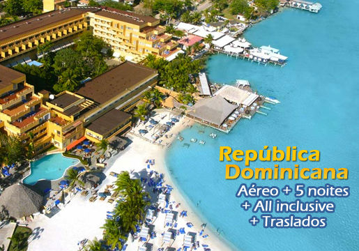 CARIBE com Aéreo em RESORT All Inclusive com Open Bar