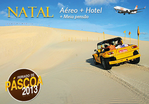 Feriado de Páscoa em Natal c/ Aéreo + Hotel com Café