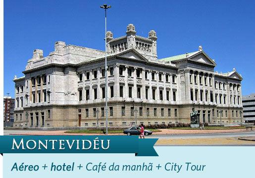 Montevidéu INACREDITÁVEL com Aéreo + Hotel + Café + City