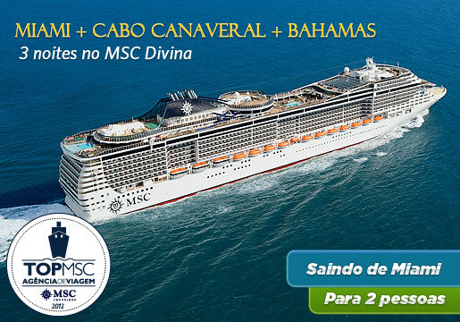 Cruzeiro de 3 Noites - Miami, Bahamas e Cabo Canaveral