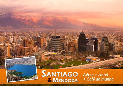 2 em 1 - SANTIAGO + MENDOZA, Aéreo + Hotel + Café