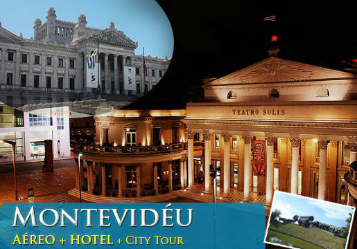 PACOTE para Montevidu em Hotel 4 Estrelas! PASSAGEM Area ida e volta + 2 NOITES no SENSACIONAL Esplendor Hotel + CAF da Manh + CITY Tour. A partir de R$75 + 10X de R$42,40 Sem Juros. Confira valores para 3 ou 4 noites!