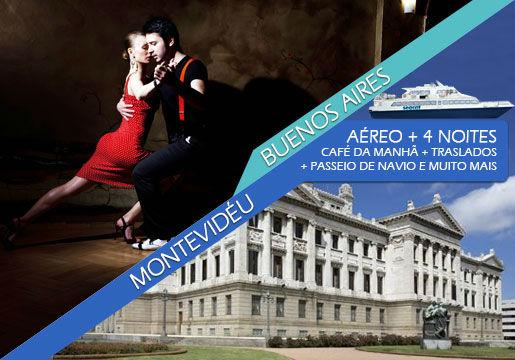 Buenos Aires + Montevidéu com Aéreo + Hotel + Passeios