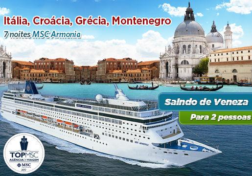 Itália + Croácia + Grácia + Montenegro: MSC ARMONIA p/2
