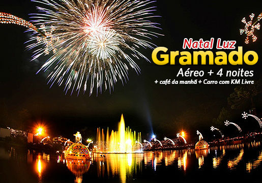 SENSACIONAL GRAMADO Natal LUZ: Aéreo +Hotel + Carro