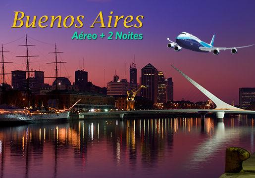 BUENOS AIRES INCRÍVEL c/ aéreo + 2 Noites