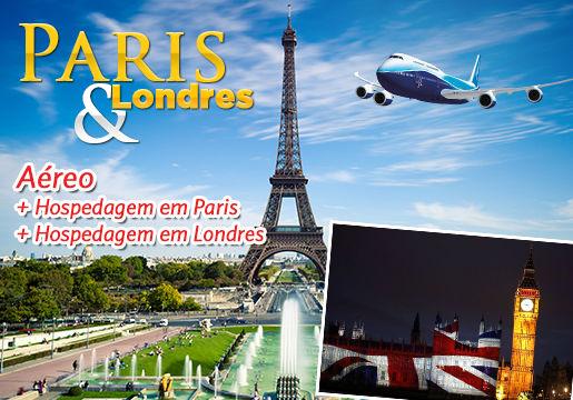 LONDRES + PARIS com Aéreo + Hospedagem c/ café