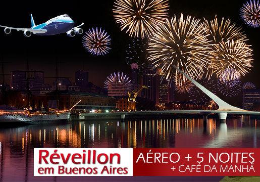 RÉVEILLON BUENOS AIRES: Aéreo + 5 noites +Traslado