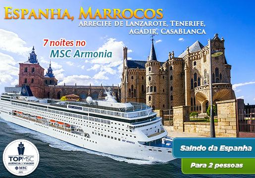Cruzeiro de 7 Noites MSC Armonia pela Espanha e Marrocos