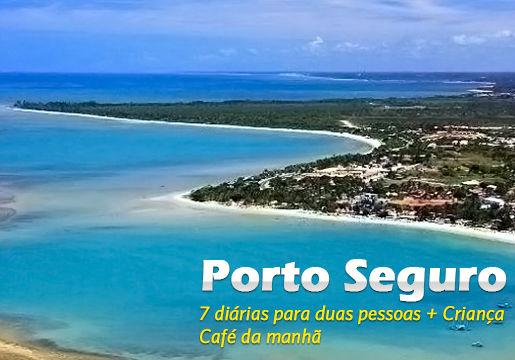 7 diárias em PORTO SEGURO para Casal + Café + Criança