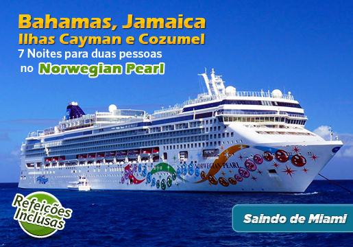 CRUZEIRO p/2 passando por Bahamas, Jamaica e mais