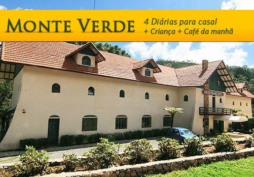 Monte Verde: 4 diárias p/ Casal + Criança + Café