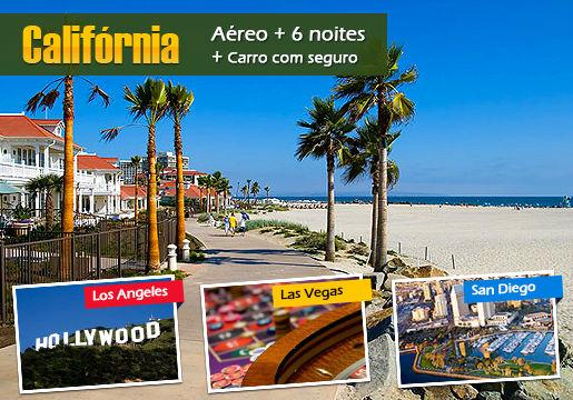 LA, San Diego e Las Vegas c/ aéreo + hotel + Carro