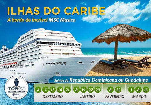 Conheça 6 ILHAS DO CARIBE + refeições no MSC Musica!