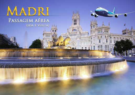RASGADO: Aéreo p/ Madri em 10x sem juros