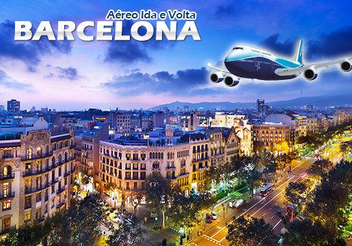 RASGADO: Aéreo p/ Barcelona em 10x Sem Juros